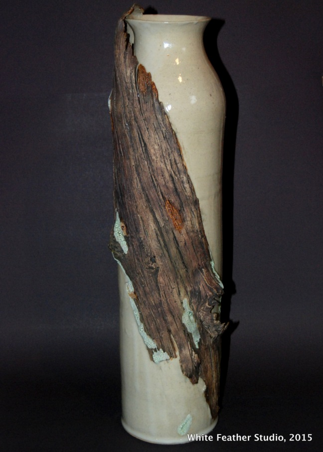 Tall Vase with Wood