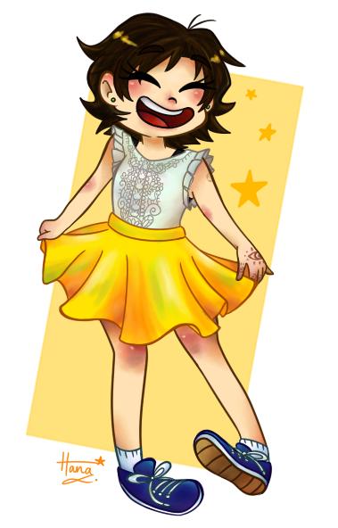Hana in a Skirt
