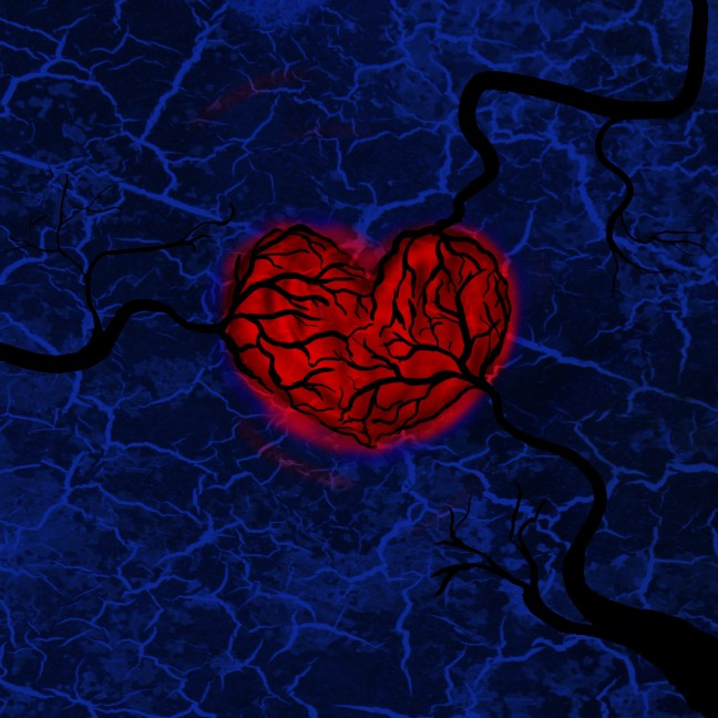 Heart Covered by Vines