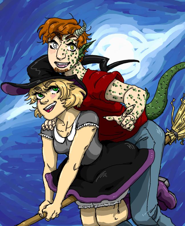 witch lizard sketch