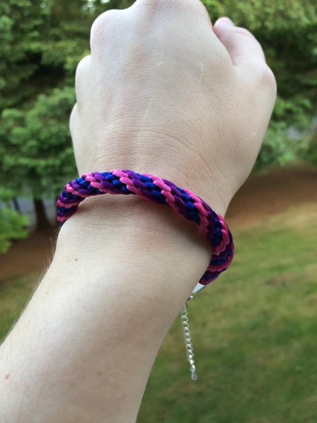Bisexual Pride Kumihimo Bracelet