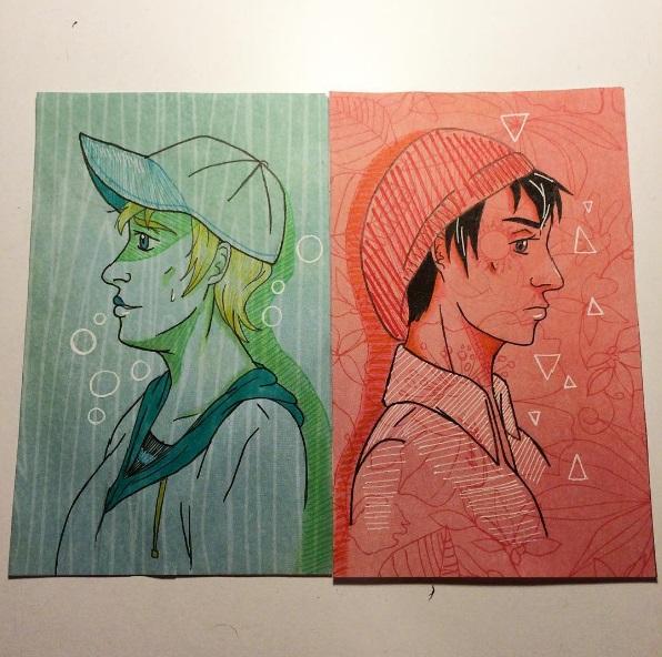 Luke and Michael hats