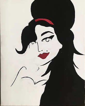amywinehouse canvas painting