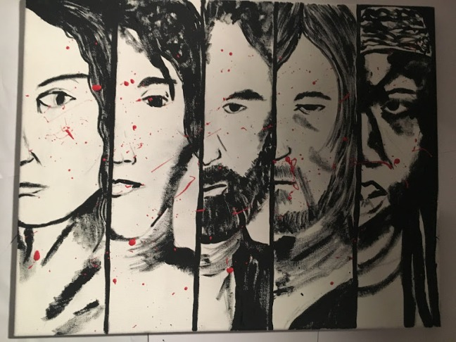 walking dead painting