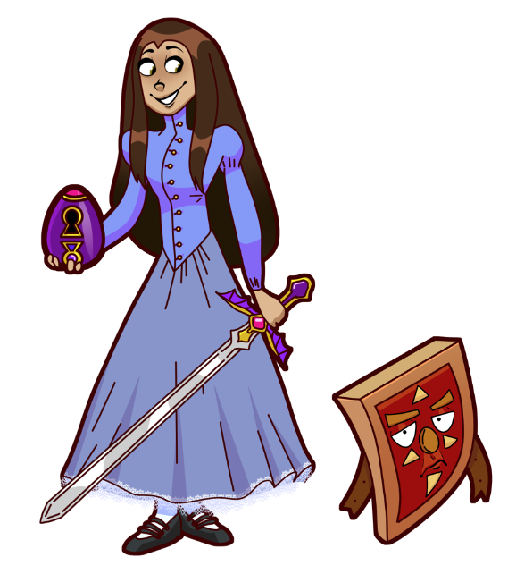 Girl and Shield