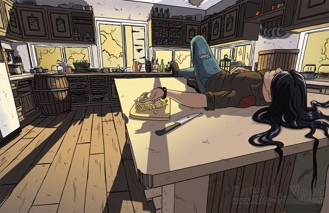 Vivian's Kitchen Test Illustration