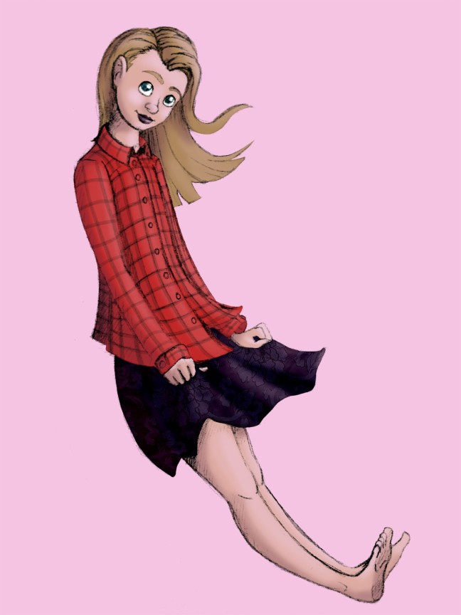 Katrine sketch in colours
