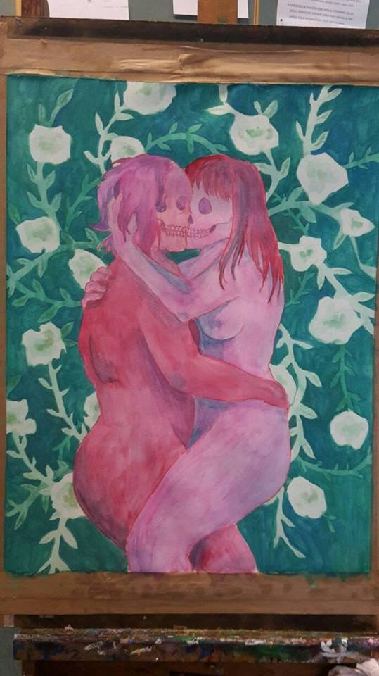 2. kissing watercolor