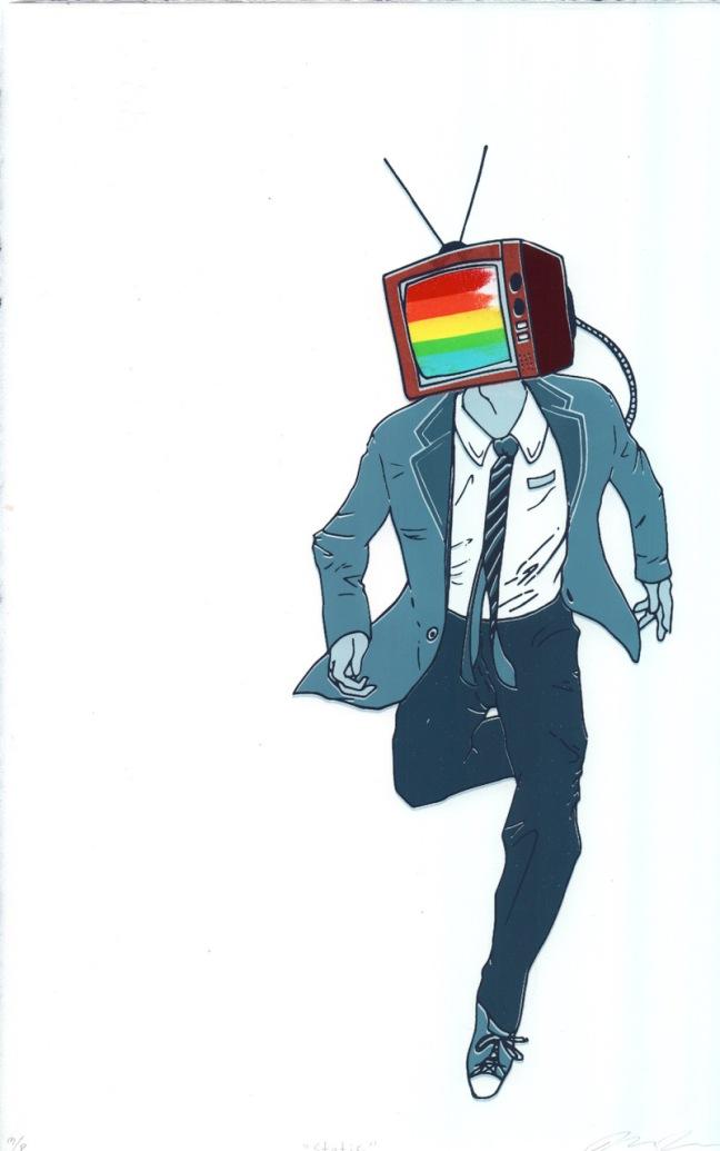 8. Rainbow TVhead
